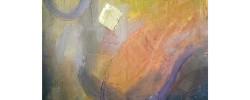 إحدى لوحات معرض براك              (مكة)